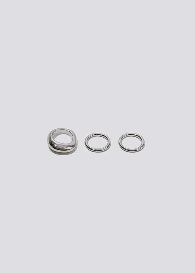 DARKVICTORY[套裝]圓潤線條感三入戒指組