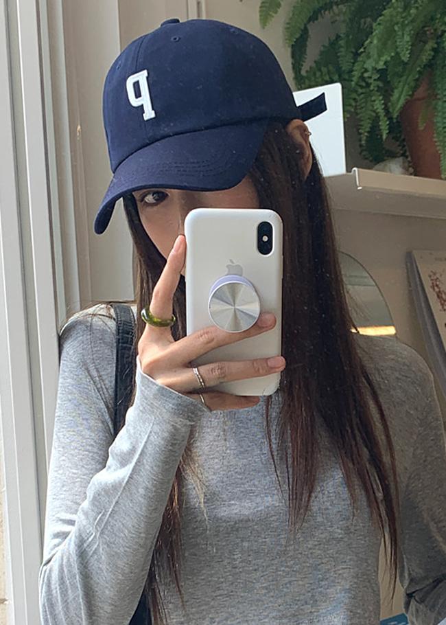 DARKVICTORY立體P字裝飾棉質棒球帽