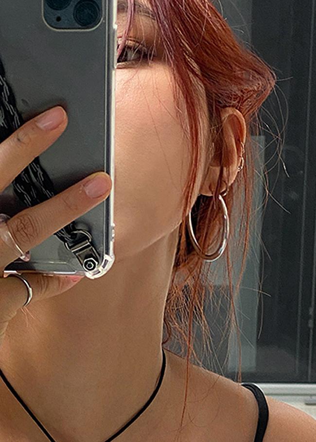 DARKVICTORY摩登女郎金屬圓圈耳環