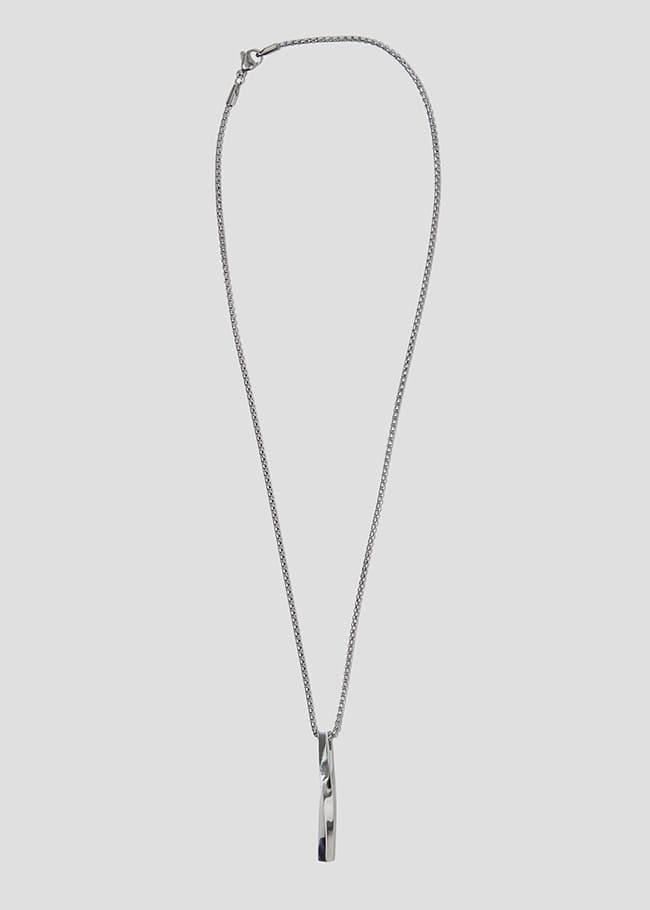 DARKVICTORY幾何柱形綴飾金屬項鍊