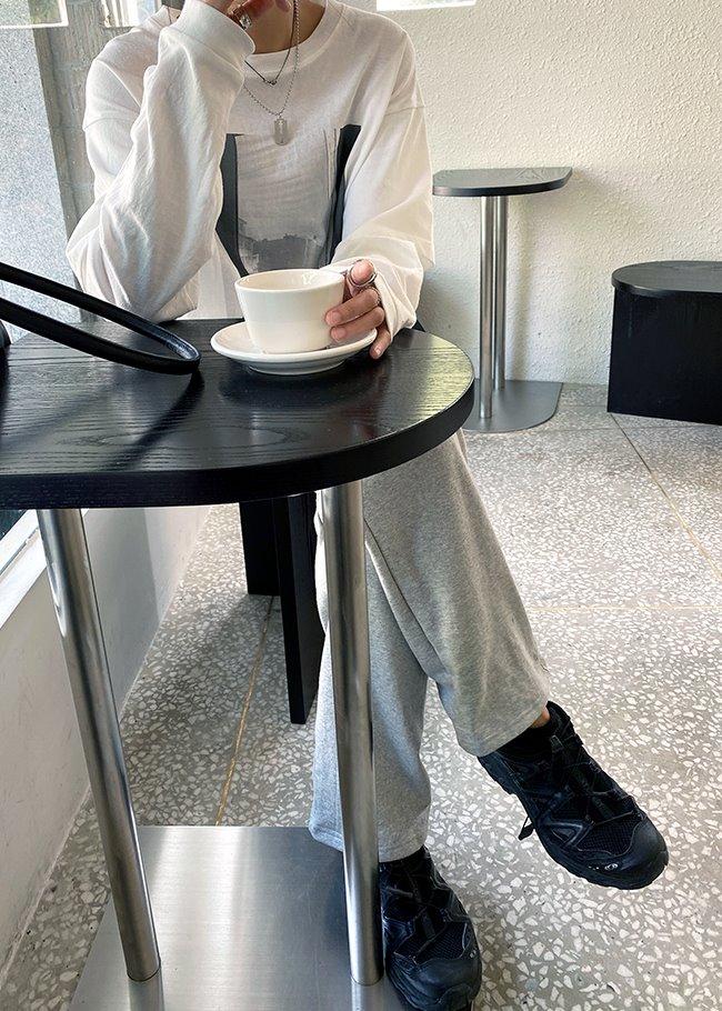 DARKVICTORY多口袋基本款抽繩腰寬管長褲