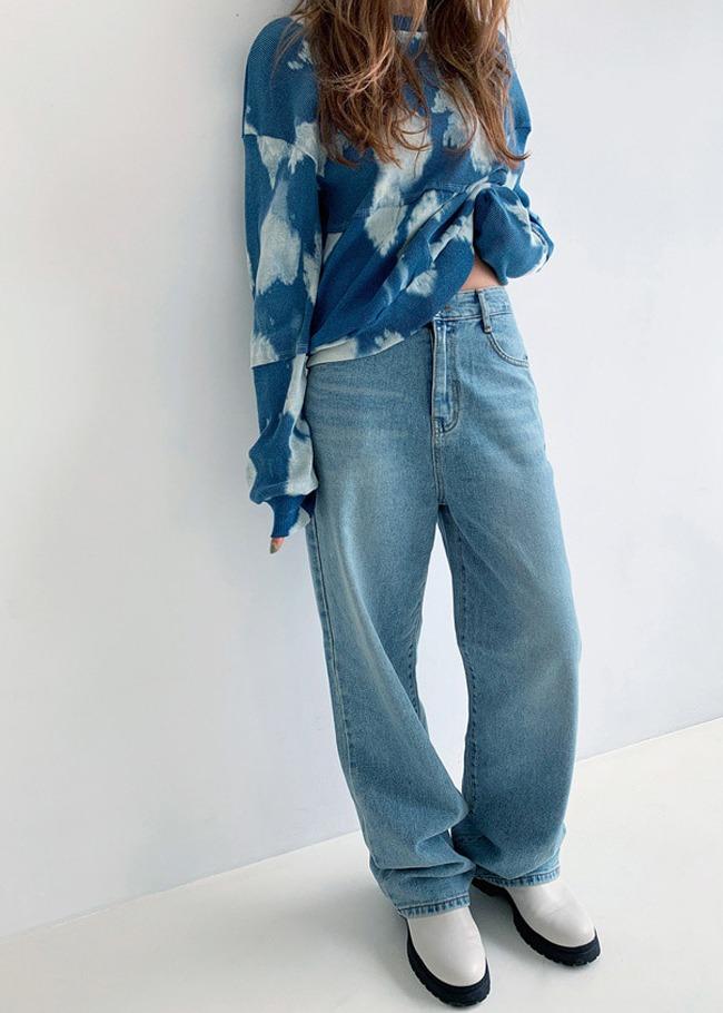 DARKVICTORY慵懶時尚落地直筒牛仔褲