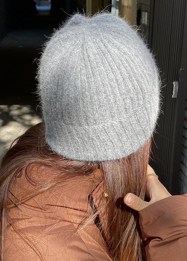 DARKVICTORY混安哥拉羅紋針織毛帽