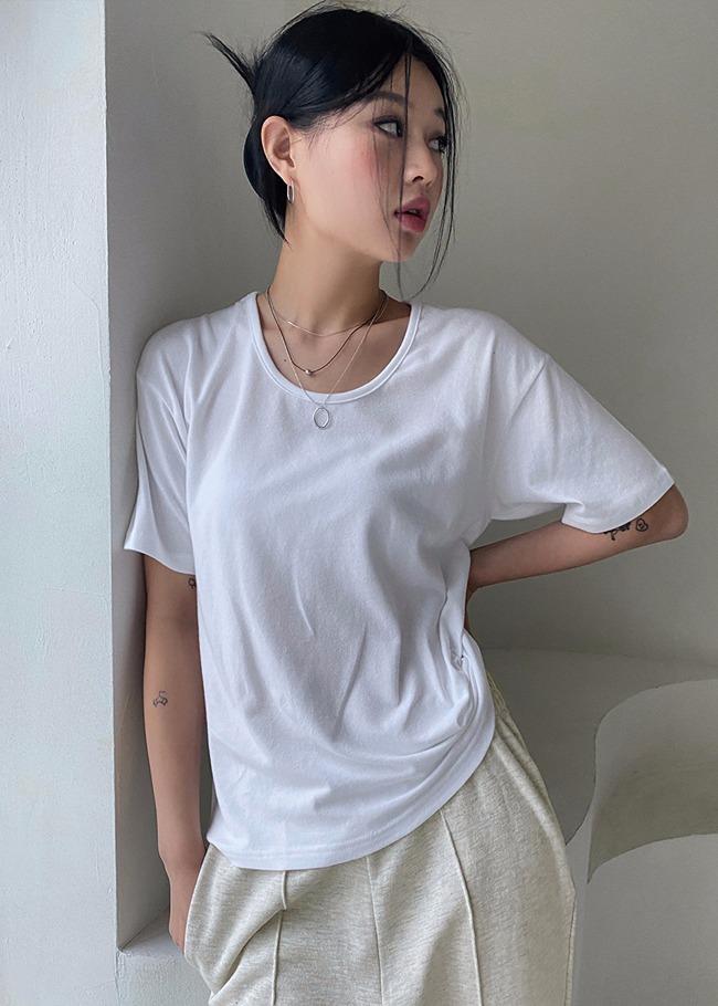 DARKVICTORY混莫代爾素面短袖T恤