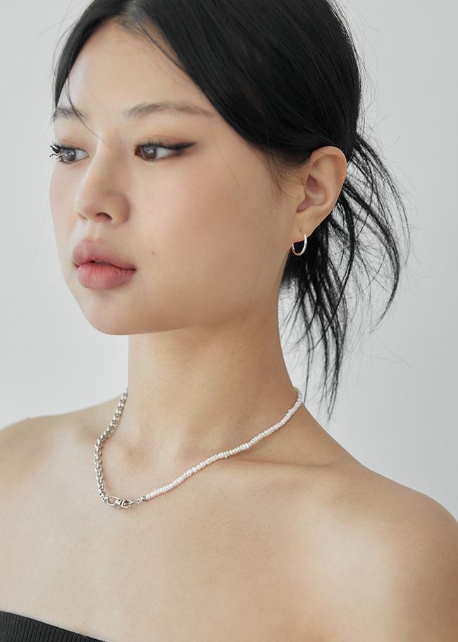 DARKVICTORY珍珠金屬鍊混搭造型項鍊