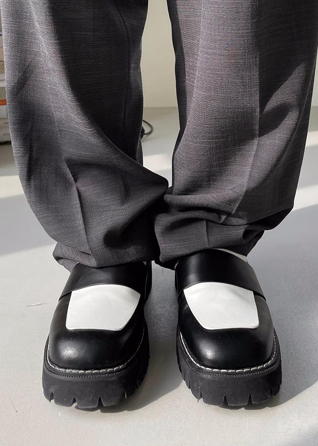 DARKVICTORY配色設計中跟皮革樂福鞋