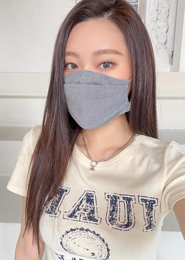 DARKVICTORY車線層次感素面棉質口罩