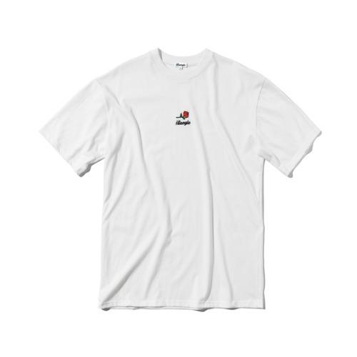 [하이앵글] 엠브로이더리 로즈 티셔츠 - 화이트