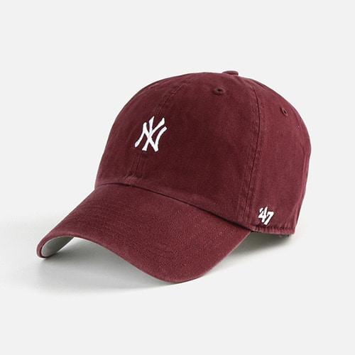 47브랜드 NY 볼캡 모자 와인