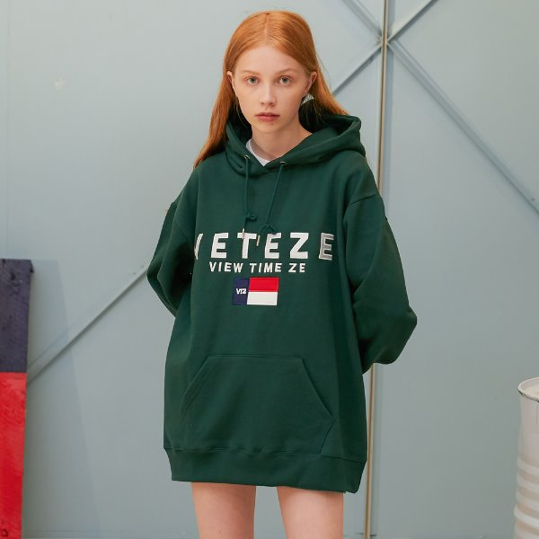 [VETEZE] Big Logo Hood (green)
