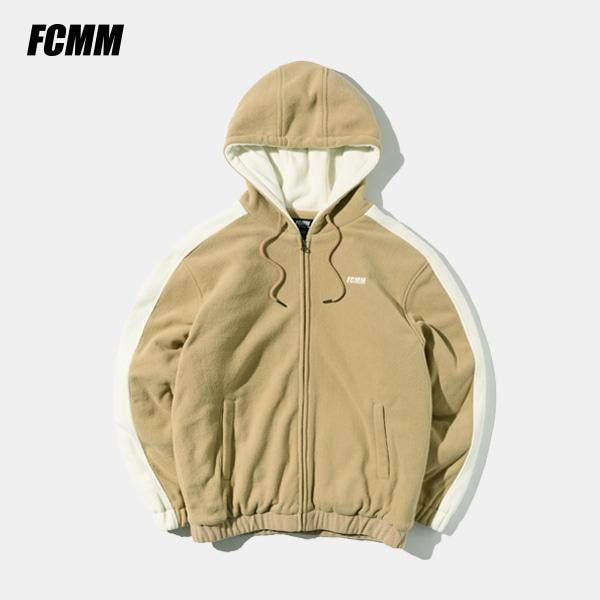 [FCMM] 사이드라인 플리스 후드점퍼 - 베이지