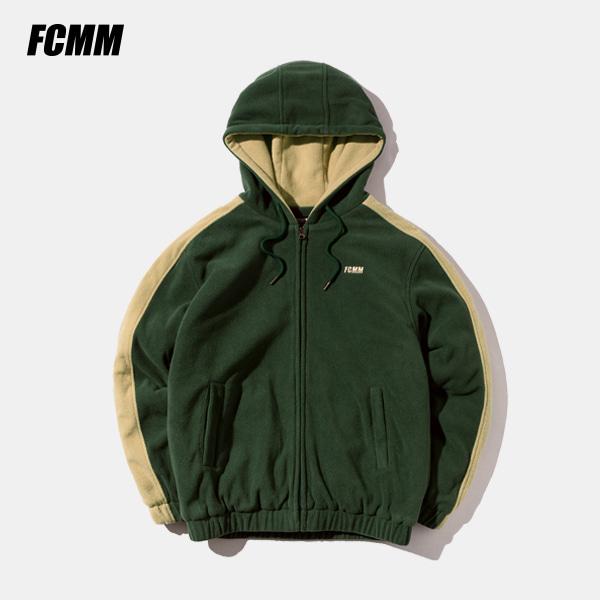 [FCMM] 사이드라인 플리스 후드점퍼 - 다크 그린