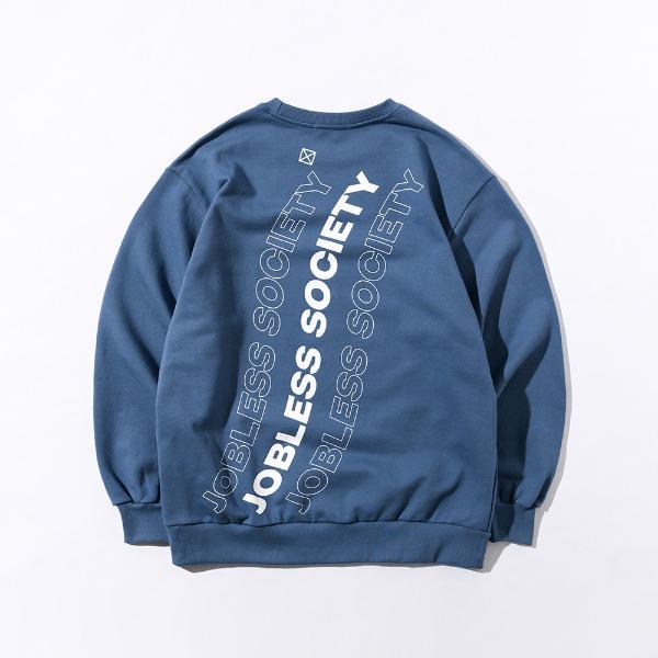 [잡리스 소사이어티] SOCIETY REAR FILL SWEATSHIRTS (Smokey Blue)