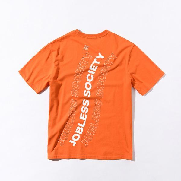 [잡리스 소사이어티] SOCIETY REAR FILL HALFSHIRTS (Orange)