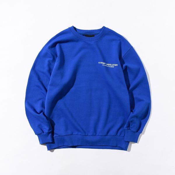 [SIMPLY PRICE .9][프리마우터] PM LOGO Sweatshirts (Blue)