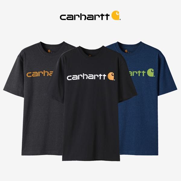 [2020S/S 시즌오프][CARHARTT] 칼하트 K195 시그니쳐 로고 반팔티