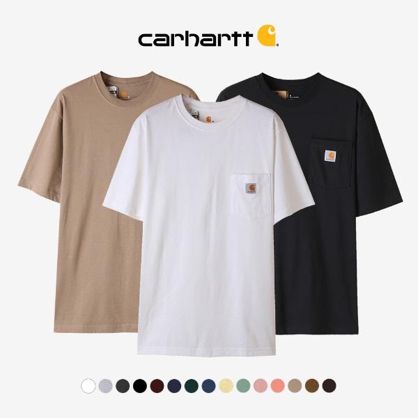 [핫썸머 베이직 티셔츠&쇼츠]칼하트 K87 워크웨어 포켓티