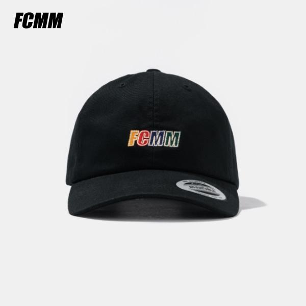 [쿠치샵 창고대방출][FCMM] 레인보우 로고 캡 - 블랙