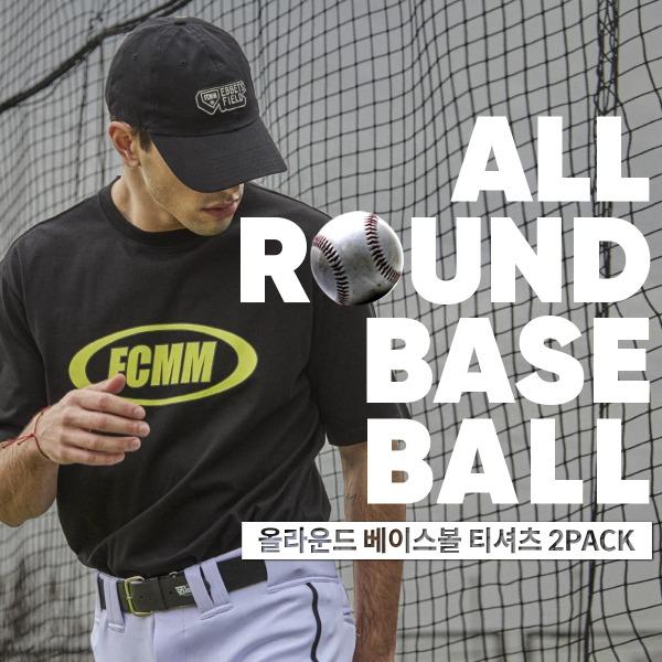 [쿠치샵 단독구성][FCMM] 올라운드 베이스볼 티셔츠 2PACK