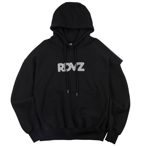 [RDVZ] VOLUME LOGO HOODIE BLACK