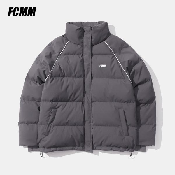 [FCMM] 클럽 파이핑 숏 패딩 점퍼 - 그레이 (10월 30일 순차발송)