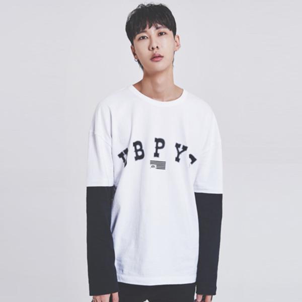 [어반플레이어스] 16s 레이어드 티셔츠 (화이트)