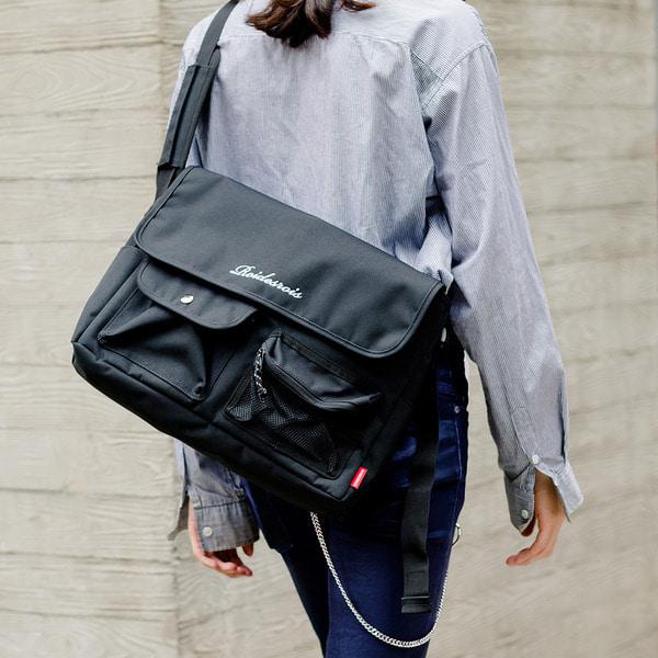 HUSH MESSENGER BAG (BLACK)