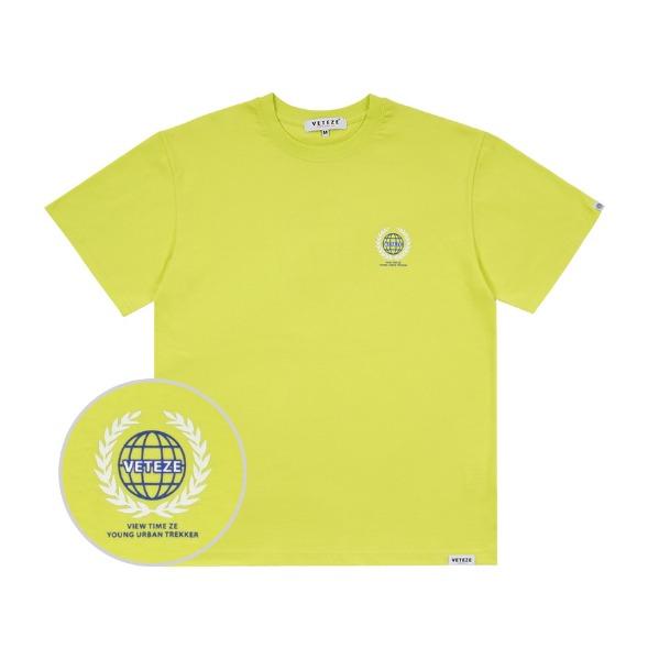 [VETEZE] Earth Logo Campaign T-Shirt (neon)