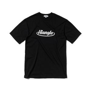 [하이앵글] 크라운 로고 티셔츠 - 블랙