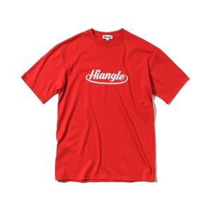 [하이앵글] 크라운 로고 티셔츠 - 레드