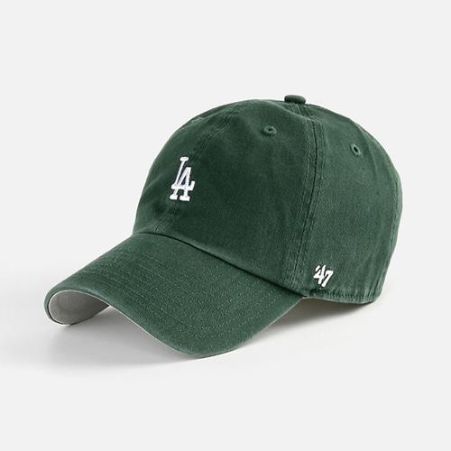 47브랜드 LA 볼캡 모자 다크그린