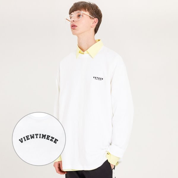 [VETEZE] Arch Logo Sleeve (white)