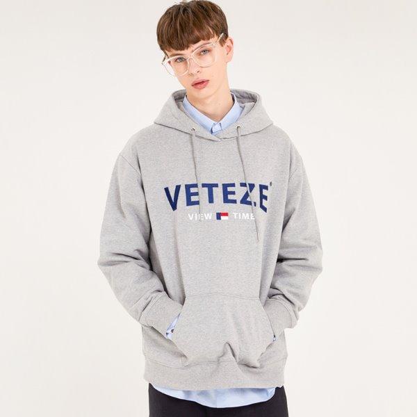 [VETEZE] Curve Logo Hood (gray)