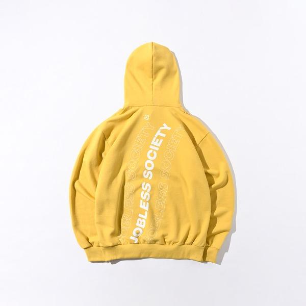 [잡리스 소사이어티] SOCIETY REAR FILL HOODIE (Mustard)