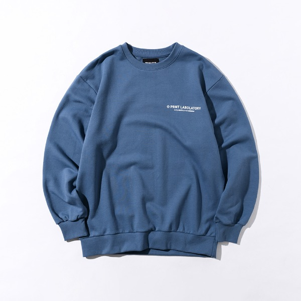 [SIMPLY PRICE .9][프리마우터] PM LOGO Sweatshirts (Smokey Blue)