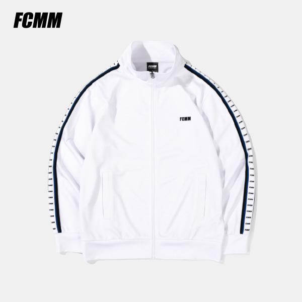 [FCMM] 로고 테이프 트랙 자켓 - 화이트