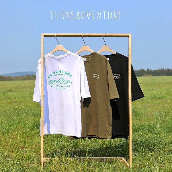 [FLUKE] 플루크 하이킹 마운틴 오버핏 반팔티셔츠 FOT103 / 3color