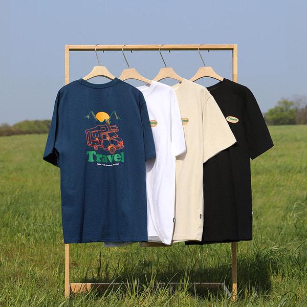 [쿠치샵 단독특가][FLUKE] 플루크 트래블 캠핑카 반팔티셔츠 FST159 / 5color