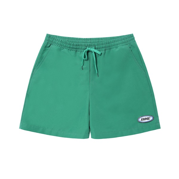 BIKE CLASSIC LABEL WOVEN SHORTS - GREEN(09월 28일 순차발송)