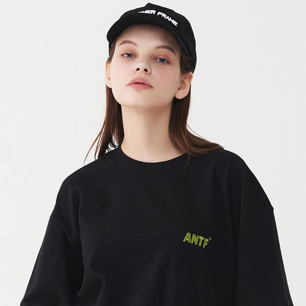 [어나더프레임] ANTF 뉴 그래픽 절개 반팔티 (블랙)