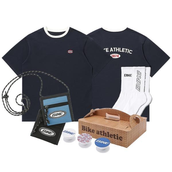 [양말&스마트톡 랜덤증정]BIKE 1874 PICNIC PACK 헤리티지 티셔츠 + 크로스 월렛 2 Color