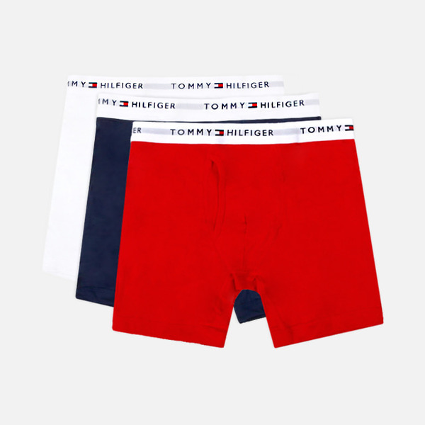 타미힐피거 박서 브리프 3팩 팬티 화이트/네이비/레드