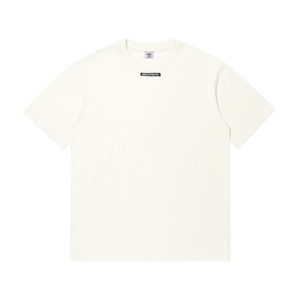 BIKE ATHLETIC LABEL T SHIRT - WHITE