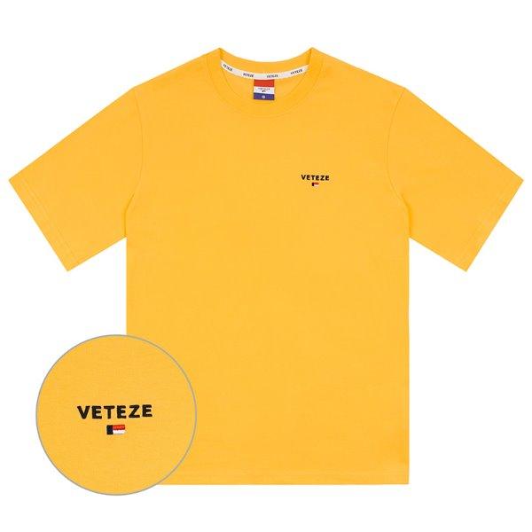 [2020S/S 시즌오프][VETEZE] Basic Logo Half T-Shirts (yellow)