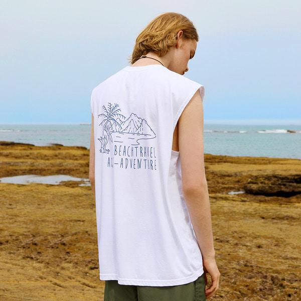 플루크 피그먼트 비치트래블 슬리브리스 티셔츠 FSL102 / 4color M