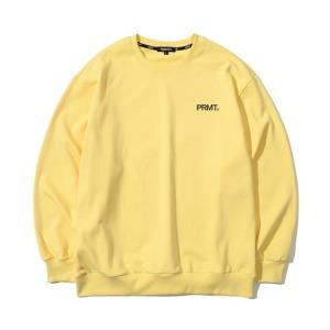 [프리마우터] 피엠 베이직 로고 스웨트셔츠 (vanilla yellow)