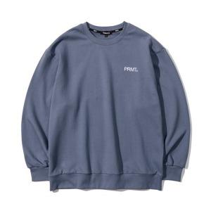 [프리마우터] 피엠 베이직 로고 스웨트셔츠 (midnight blue)