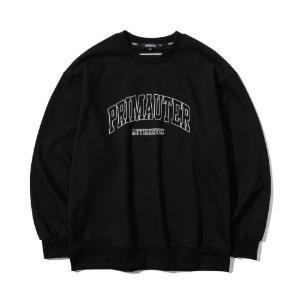 [프리마우터] 바시티 리니어 스웨트셔츠 (black)