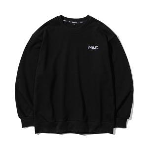 [프리마우터] 피엠 베이직 로고 스웨트셔츠 (black)