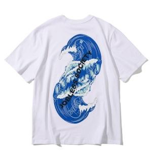 [잡리스 소사이어티] 소사이어티 빅웨이브 하프셔츠 (White)